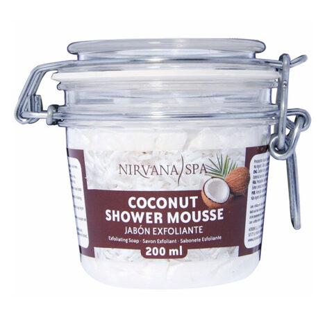 Coconut Shower Mousse 200 ml, Nirvana Spa