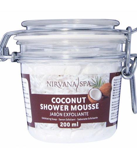 Coconut Shower Mousse 200 ml, Nirvana Spa