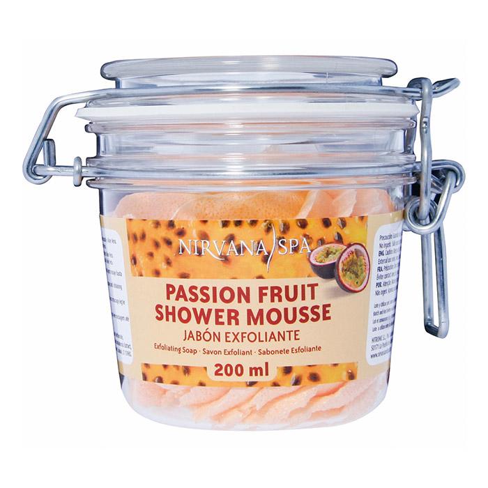 Passion Fruit Shower Mousse 200 ml, Nirvana Spa